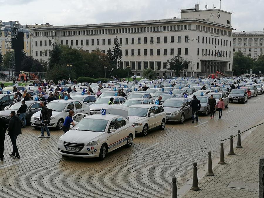 Протест на автоинструкторите
